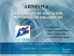 AENFOVA (ASOCIACION DE EDUCACION NO FORMAL DE …