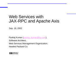 Web Services with JAX