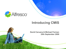 Introduction to CMIS