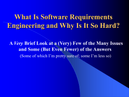 What is Software Engineering and Why is it so Different