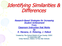 Similarities & Differences Math PowerPoint