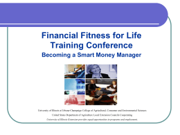 Financial Fitness for Life Teacher Training Workshop