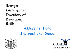 GKIDS - GADOE Georgia Department of Education