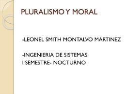 PLULARISMO Y MORAL