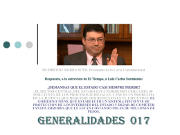 HUMBERTO SIERRA SOTO, Presidente de la Corte …