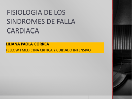 FISIOLOGIA DE LOS SINDROMES DE FALLA CARDIACA