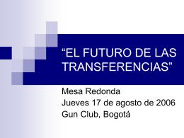 """EL FUTURO DE LAS TRANSFERENCIAS"""""""