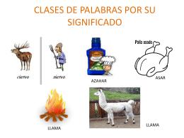 CLASES DE PALABRAS POR SU SIGNIFICADO