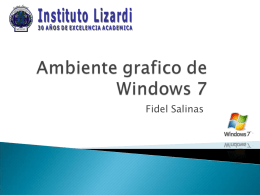 Ambiente grafico de Windows 7