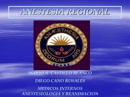 Anestesia Regional - Universidad Industrial de Santander