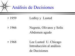 Analisis de Decisiones - Facultad de Medicina UNAM