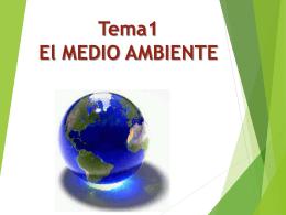 1 EL ESTUDIO DEL MEDIO AMBIENTE