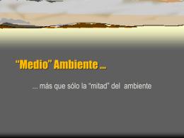 """Medio"""" Ambiente"""