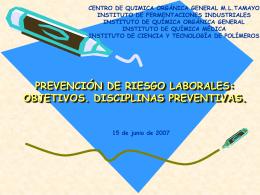 RIESGOS LIGADOS AL MEDIO AMBIENTE DE TRABAJO: …