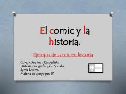 El comic y la historia.