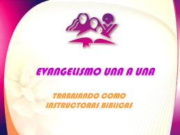 TRABAJANDO COMO INSTRUCTORAS BIBLICAS