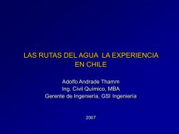 Las Rutas del Agua - Experiencia en Chile