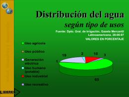USOS DEL AGUA - DISASTER info DESASTRES