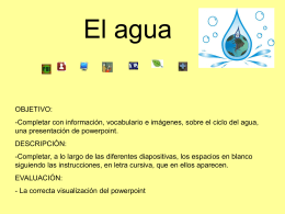 El agua