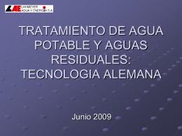 TRATAMIENTO DE AGUA POTABLE Y AGUAS RESIDUALES: …