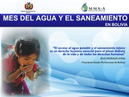 MES DEL AGUA Y EL SANEAMIENTO EN BOLIVIA