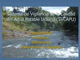 Sistema de Vigilancia de la Calidad del Agua Potable en