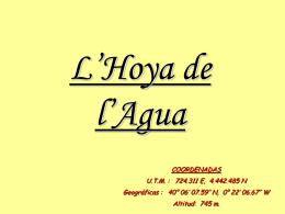 La Hoya del Agua