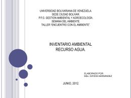 UNIVERSIDAD BOLIVARIANA DE VENEZUELA. SEDE …