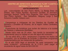 CENTRO DE DERECHOS INDIGENAS FLOR Y CANTO A.C.