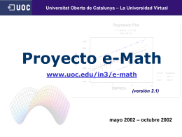 Proyecto e-Math - Universitat Oberta de Catalunya (UOC)