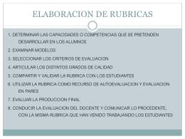 ELABORACION DE RUBRICAS
