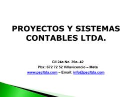 PROYECTOS Y SISTEMAS CONTABLES LTDA