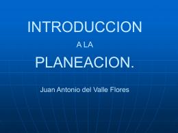 INTRODUCCION A LA PLANEACION.
