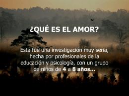 El amor?