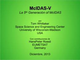 McVCast McIDAS-V for EUMETCast