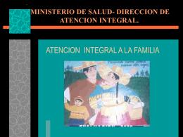 MINISTERIO DE SALUD- DIRECCION DE ATENCION …