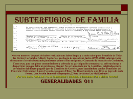 SUBTERFUGIOS DE FAMILIA