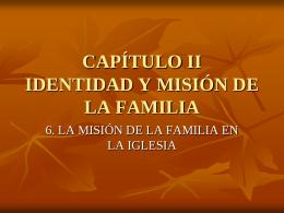 Familia evangelizada y evangelizadora