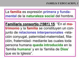 FAMILIA Y EDUCACION, 1