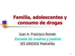 Familia, adolescentes y consumo de drogas