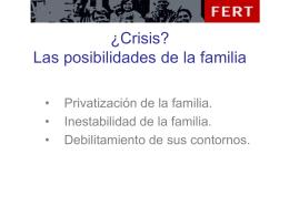 La familia en crisis