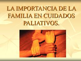 LA FAMILIA DEL PACIENTE TERMINAL