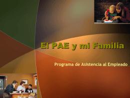 El PAE y mi Familia