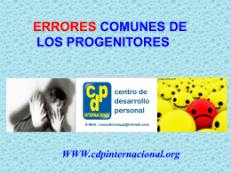 ERRORES COMUNES DE LOS INTEGRANTES DE LA FAMILIA