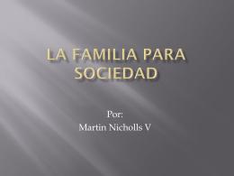 La familia Para sociedad - Religionmontessorimedellin's Blog