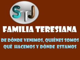 LA FAMILIA TERESIANA - Colegio Teresiano Los Angeles