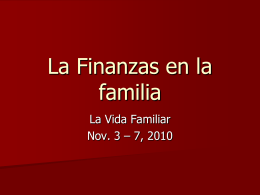 La Finanzas en la familia - Iglesia Vida con Proposito