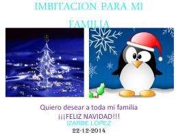 IMBITACION PARA MI FAMILIA