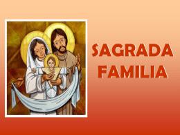 Ciclo B - Navidad: Sagrada Familia