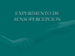 EXPERIMENTO DE SENSOPERCEPCION